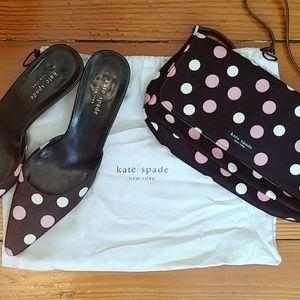 Vintage Kate Spade polka dot purse